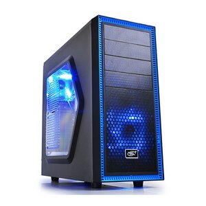 Deepcool Tesseract Black/Blue ATX Case, Window, NO PSU