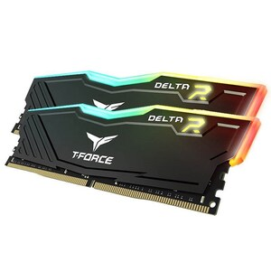 Team T-FORCE Delta RGB Series DRAM 16GB (2x8GB) DDR4 3600MHz 1.35V Black Heatspreader