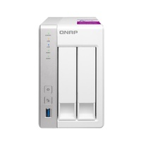 Qnap TS-231P2-2G 2-bay Personal Cloud NAS with DLNA, ARM Cortex A15 1.7GHz Quad Core, 2GB RAM