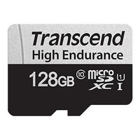 Transcend 128GB Micro SD UHS-I U1 with Adapter 100MB/S High Endurance Perfect for IP Cameras and DashCam CAM