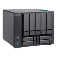 QNAP TVS-951X-8G 9 Bay Diskless NAS Intel Celeron 3865U 1.8GHz CPU 8GB RAM