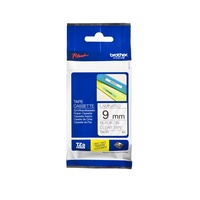 Brother Laminated Tape 9mm x 8m Black on Clear TZe-121