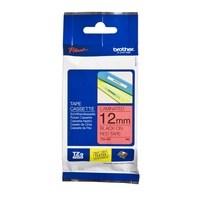 Brother Laminated Tape 12mm x 8m Black on Red TZe-431