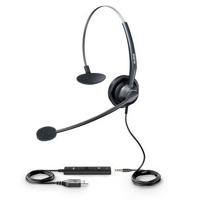 Yealink wideb+ noise cancelling headset, usb, includes 3.5mm adapter