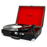 Mbeat USB-TR88 Retro Briefcase-styled USB Turntable Recorder