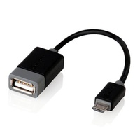 Alogic 15cm USB 2.0 Type B Micro to Type A OTG Adapter (M/F)