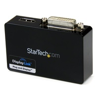StarTech Connect an HDMI¨ and DVI-I-equipped display through a USB 3.0 port, for a 1080p HD external multi-monitor solution USB32HDDVII