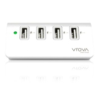 Alogic VROVA Elite 4 Port USB Charger with Smart Charge - Aluminium