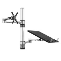 Atdec Visidec Focus Articulated Arm for Monitors & Notebook Tray Combo