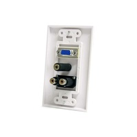 StarTech VGA Wall Plate with 3.5mm & RCA - White