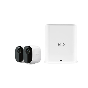 Arlo Essential 2 Wire-Free Spotlight Camera & Smart HUB
