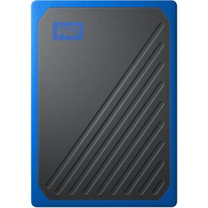 WD MY PASSPORT GO PORTABLE SSD 1TB USB 3.0 SPEEDS UP TO 400 MB/S BUILT-IN CABLE COBALT COLORED