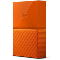 WD My Passport 4TB USB 3.0 Premium Portable Storage WDBYFT0040BOR - Orange