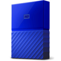 WD My Passport 1TB USB 3.0 Premium Portable Storage WDBYNN0010BBL - Blue