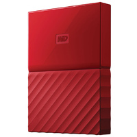 WD My Passport 1TB USB 3.0 Premium Portable Storage WDBYNN0010BRD - Red