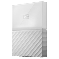 WD My Passport 1TB USB 3.0 Premium Portable Storage WDBYNN0010BWT - White