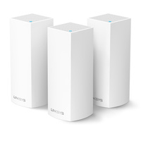 Linksys WHW0103 Velop Dual Band 3 Pack AC1300 MU-MIMO Home Mesh WiFi System