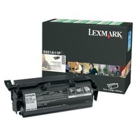 Lexmark X651A11P BLACK PREBATE TONER YIELD 7000 PAGES FOR X652, X654, X656, X658